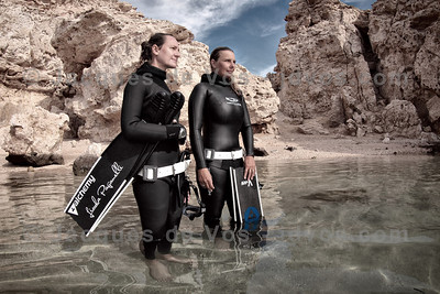 Freedive International  Record Freedivers Linda Paganelli and Lotta Ericson of the renowned Freedive International (Freedive Dahab)